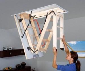 Лестница чердачная с утепленным люком