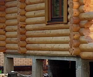Столбчатый фундамент деревянного дома
