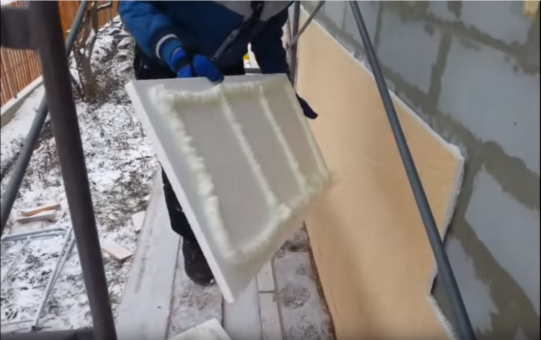 Утепление фасада термопанелями